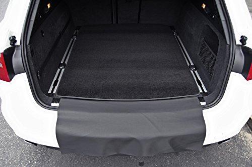 tuning-art 2807 Kofferraummatte für Audi A6 4G C/Avant 3-teilig mit Ladekantenschutz