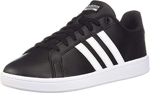 adidas Originals Women's Cloudfoam Advantage Sneaker, Core Black/FTWR White/Core Black, 10.5