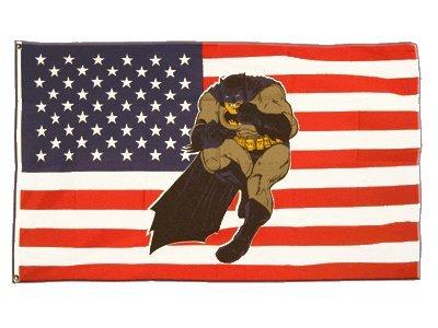 Fahne / Flagge USA Batman + gratis Sticker, Flaggenfritze®