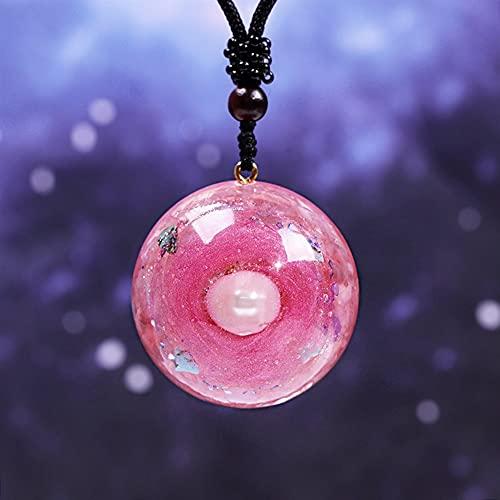 DFUF Schön Orgone Anhänger Halskette Reiki Pearl Natürliche Kristall Chakra Reiki Heilende Schmuck Amulett Für Frauen