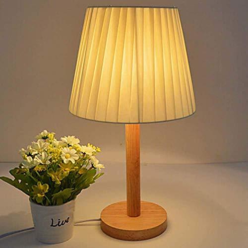Lámpara de mesa de tela moderna para estudio, oficina, dormitorio, madera, bambú, personalidad, lino, literario, interruptor de control remoto, dormitorio, lámpara de noche, lámpara de mesita de no