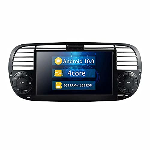 ROADYAKO 6.2Inch para Fiat 500 2007 2008 2009 2010 2011 2012 2013 2014 Original Car Radio is Black Android 10.0 Car Head Unit PC Multimedia Estéreo Navegación GPS 4G WiFi BT RDS SWC