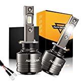 Auxbeam H1 Led Bulbs, 70W 8000lm 6000K Pure White with Temperature Control LED Chips Conversion Kits F-T1 Series