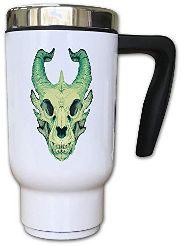 Iprints Cartoon Dragon Skull Sketch Art Mythic Creature Thermal Tea Koffiemok