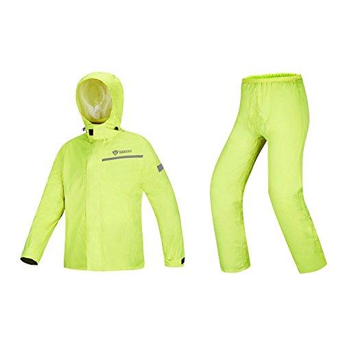 RUIX Erwachsene Regenjacke Regenhosen wasserdichte Anzug Motorrad Fahrrad Reiten Regenmantel Männer Split Regenmantel,L