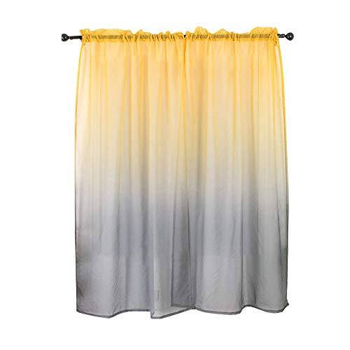 ZSooner - Cortinas para niñas con ventana lavable para casa