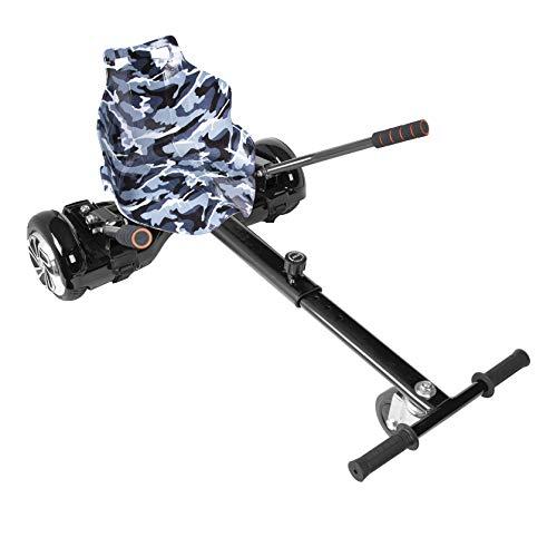 Improv Hoverkart Hoverkart-Sitz für elektrische selbstbalancierende Roller, passend für alle Hoverboard-Größen 16,5 cm, 20,3 cm und 25,4 cm, Schwarz-Camo