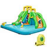 HONEY JOY Inflatable Water Slide, Kids Bounce House w/Two Slides,...
