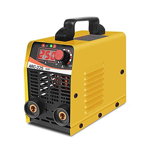 Wgwioo Máquina De Soldadura, Kit De Máquina De Soldadura Eléctrica Digital IGBT De Soldador, Soldador Inversor Portátil con Soporte De Electrodo, Soldador De Varilla