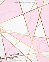 2018-2019: Agenda semanal 20 x 25cm, Perfecto para anotar las ideas, pensamientos o tareas, con citas de inspiración, diseño patrón de mármol (15 ... 2018 - diciembre 2019) (Spanish Edition)