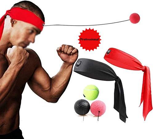Boxing Reaction Ball - hoofdband Portable Reageer Training Snelheid Snel Fight Ball - Huishoudelijke Boxing Zakken met 3 Moeilijkheidsgraad Ball - voor Indoor Fitness Oefeningen,A
