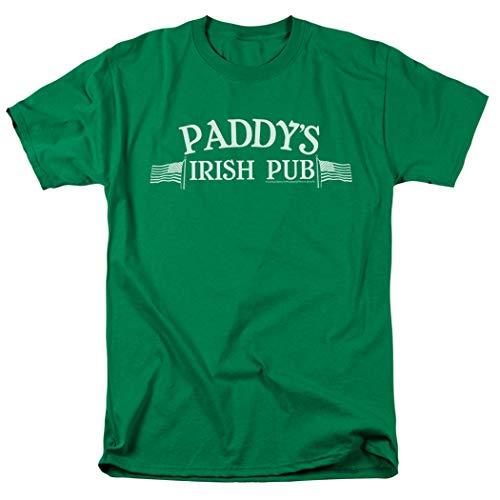 Popfunk It's Always Sunny In Philadelphia Paddy's Pub T Shirt & Exclusive Stickers (Medium) Green