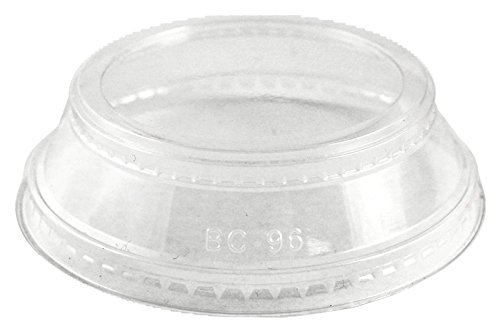 World Centric 100% Compostable Corn PLA Lid - Souffle Holder, No Hole -Designed to Fit 9Q-24 Ounce Clear Cold Cups (Case of 1000)