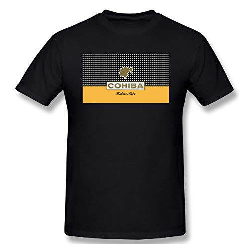 SPower.Tee Men's Cohiba Cigars Casual T-Shirt XXL Black with Mens Short Sleeve