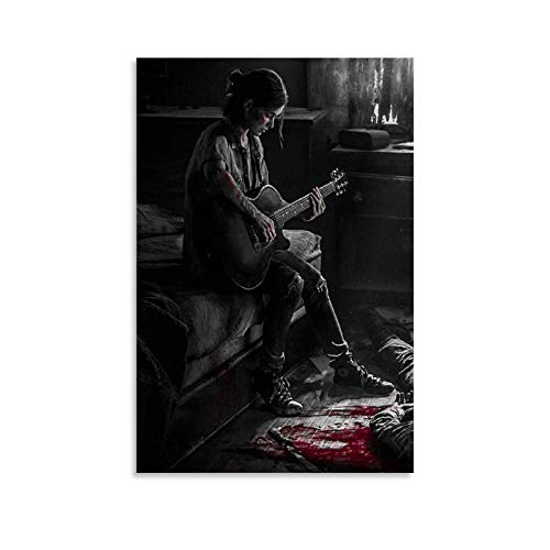 LIULANG Póster de Ellie The Last of US 2 de guitarra, impre