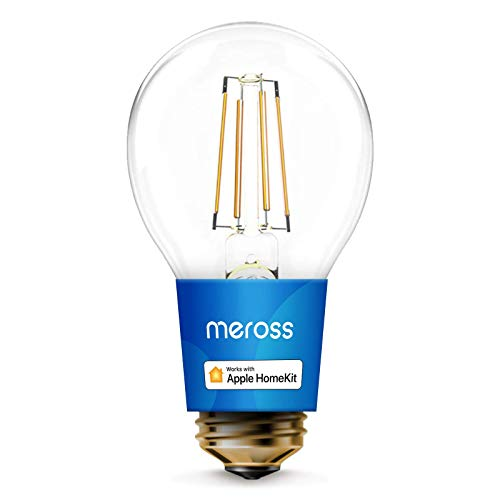 meross Lampadina Intelligente Wifi LED Dimmerabile E27 A19 Vintage Edison, Smart Light Compatibile con Apple HomeKit, SmartThings, Amazon Alexa, Google Assistant, 6w Equivalente 60W
