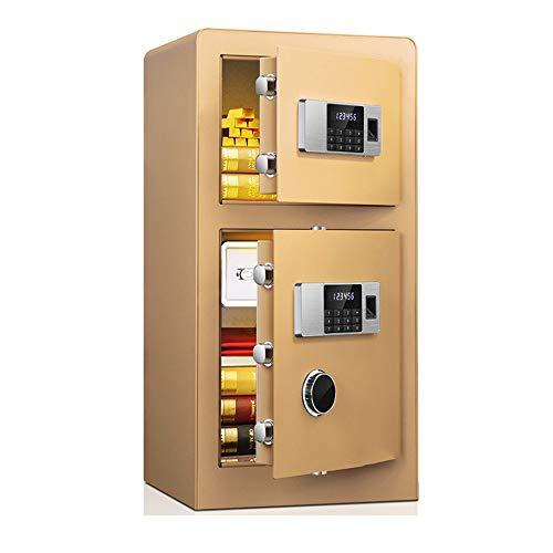 Caja Fuerte de Gabinete Cerradura de la huella digital y contraseña del bloqueo de seguridad biométrica, de pared del gabinete de seguridad montado for el uso de la oficina Para el Negocio en casa