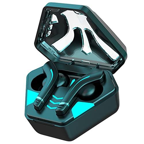 Auriculares internos para juegos, auriculares impermeables a prueba de contacto, auriculares con cancelación de ruido con luces de respiración, estéreo, adecuados para juegos y trabajo,Negro
