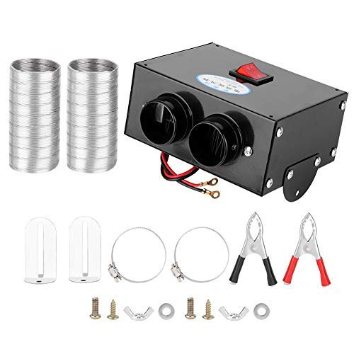 Zerodis 500W Autoheizung, vollautomatische geräuscharme Autoheizung Tragbar Reinigt einfach zu installierende Luftheizung Abtauung Defogger 12V 24V für Windschutzscheibe(12V)