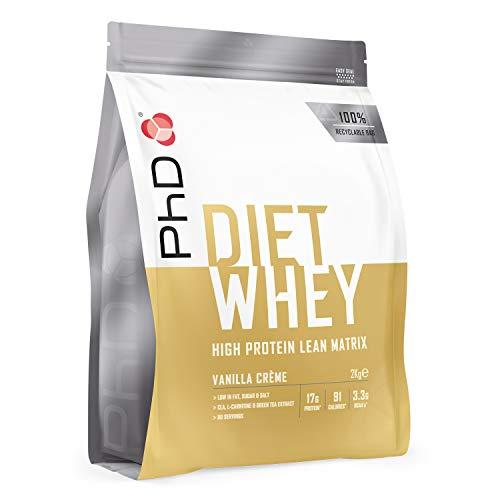 PhD Nutrition Diet Whey Protein Powder, Vanilla Cream, 2 kg