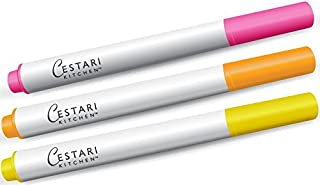 Chalk Ink Pens - Set of 3 Pastel Colors - Pink - Yellow - Peach - Chalk Pastels - Write on Vinyl Chalkboards, Chalkboard Stickers, Mirrors, Windows, Stainless Steel, Ceramics With Chalk Paint Markers