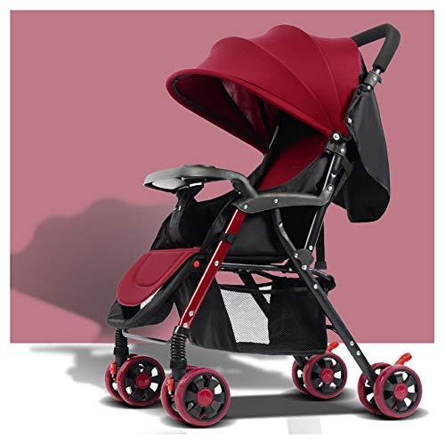 MMYYIP 3 in 1 lichtgewicht kinderwagens kunnen liggend baby opvouwbaar, lichtgewicht vierwielige buggy