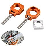 Apricot blossom Billet Eje Trasero Bloques Chain Ajustador Fit for KTM 85 SX 2003-2014 125 250 300 350 400 450 525 530 EXC EXC-F XC-W XCFW 2000-2018
