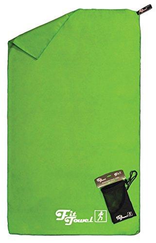 Toalla de microfibra perfecta para el ejercicio, el campamento, el gimnasio, los viajes, la playa y más Verde Pequeña [90cm x60cm]