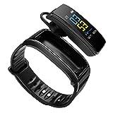 Youngsown Y3PLUS Braccialetto Intelligente Tracker di attività Fisica Monitoraggio della Frequenza Cardiaca Contapassi contapassi, Chiama Musica Riproduci Smartwatch, Schermo a Colori