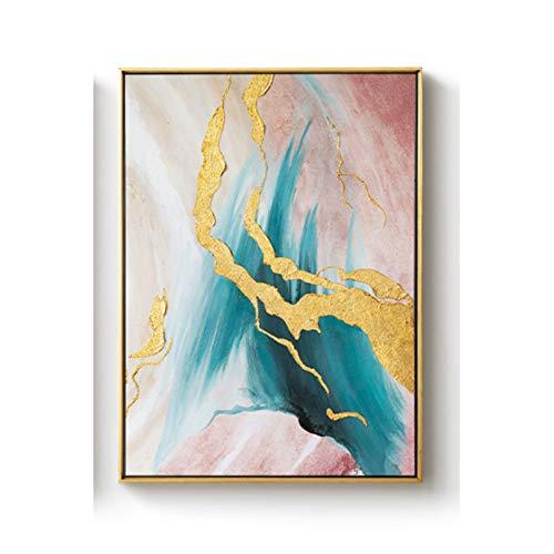 Olieverfschilderij berkenwald landschap canvas schilderij woonkamer slaapkamer decoratie schilderij hedendaagse afbeelding 100% handgeschilderd 100x160cm 2
