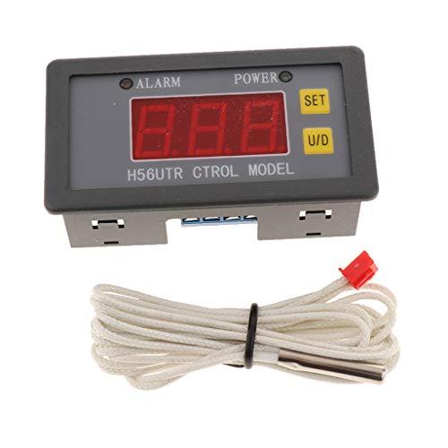 SDENSHI H56ATR300 Sensor Interruptor Termostato Regulador de Temperatura de 1 Pieza - Salida roja 10A sin cubierta trasera