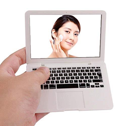 Xiton 1PC Laptop trucco a forma di specchio del mini della tasca specchio portatile compatto di trucco specchio cosmetico attrezzo di bellezza per la corsa Usa (bianco)
