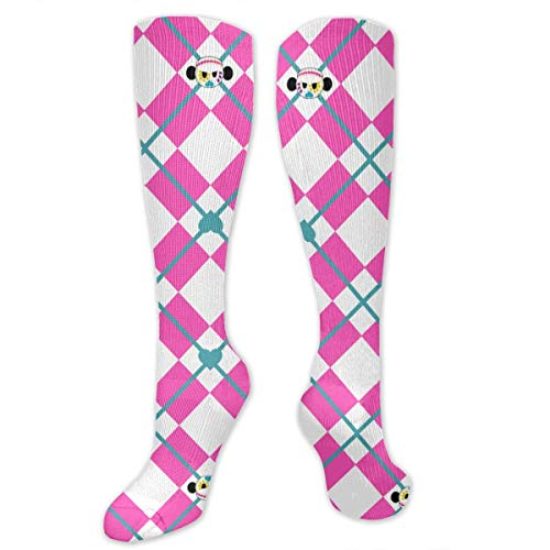 HJKAA Calcetines Hombres Mujer Sugar Skull Argyle Compression Socks Women Men - Best Medical Running,Athletic,Varicose Veins,Travel