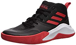 small Adidas OwnTheGame Wide Basketball Shoes, Black / Active Red / White, 6US Unisex Big_Kid