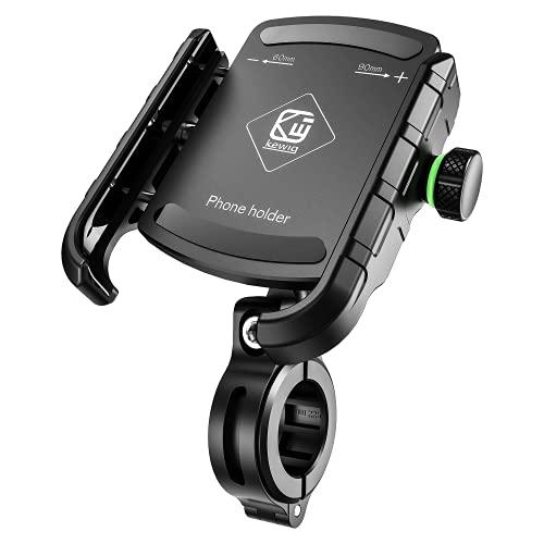 BTNEEU Soporte Movil Bicicleta, Anti Vibración 360° Rotación Soporte Móvil Moto Ajustable Soporte Teléfono Bicicleta Compatible para iPhone Samsung Huawei y Otro 3,5'' a 7,0'' Smartphones (Negro)