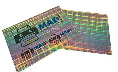 Perlglanz-Hologramm Tartan Effekt Metallic selbstklebend Inkjet Folie A4, 5Blatt