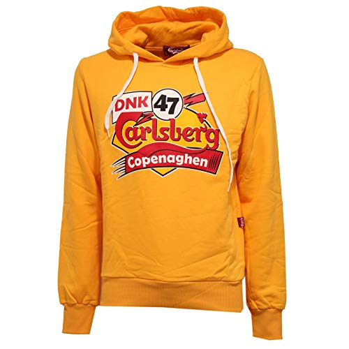Carlsberg 8519K Felpa Uomo Yellow Heavy Cotton Sweatshirt Man [XL]