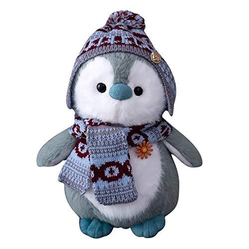 20CM Pinguinpuppen Kuscheltier Mit Hüten,Flauschiges Plüschtier Stofftier für Kinder,Mädchen, Jungenzum Auto Dekorationen Urlaub(A)