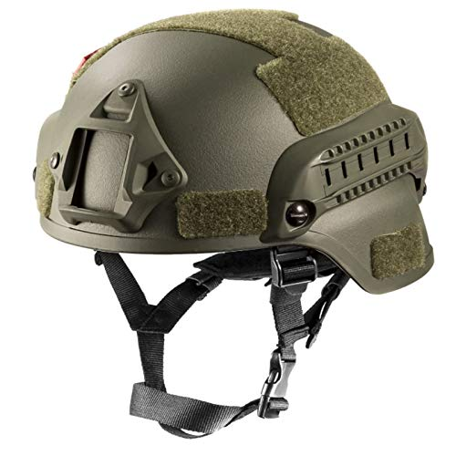 Tactical Helmet, Premium ABS Plastic Helmet for Men Women, Adjustable Fast MH Bump Protective Gear for Outdoor Activities (Green)