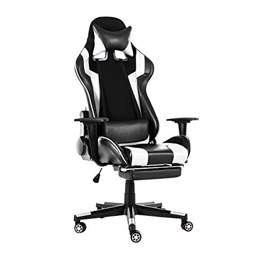 TAPCET Gaming Chair Office Chair Series (White) chairs Computer Dining Features gaming Kitchen