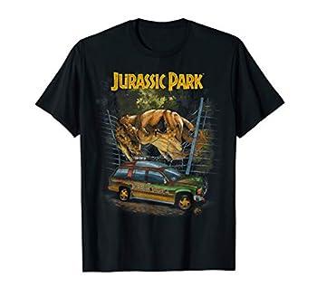 Jurassic Park Vintage T-Rex Break Out Graphic T-Shirt