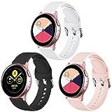 Vobafe Correa Compatible con Samsung Galaxy Watch Active/Active 2 (40mm/44mm), Correas de Repuesto de Silicona Suave con...