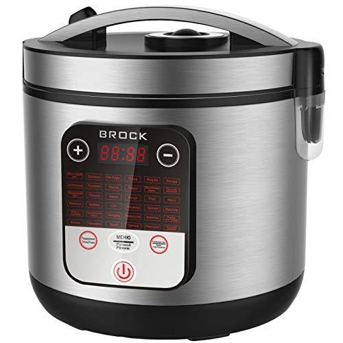 Brock Electronics MC-3601 multifunctionele keukenmachine, 700 W, 5 liter, 5 decibel, roestvrij staal, 36 versnellingen, zilverkleurig