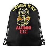 No aplicable Karate Kid - Cobra Kai Alumni Bolsas de Cordón Bolsa de Gimnasio Mochila Deportiva Mochila Sackpack