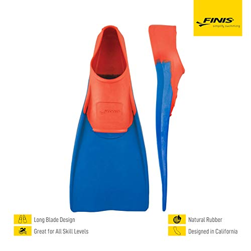 FINIS Long Floating Fins , Red/Blue , M (US Male 5-7 / US Female 6-8) , Red/Blue, M (US Male 5-7 / US Female 6-8)