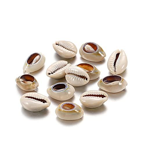 Chytaii - 200 perlas de concha Seashell con perlas artesanales para manualidades, fabricación de joyas y decoración para mujer, joyas, collares, pendientes, regalo