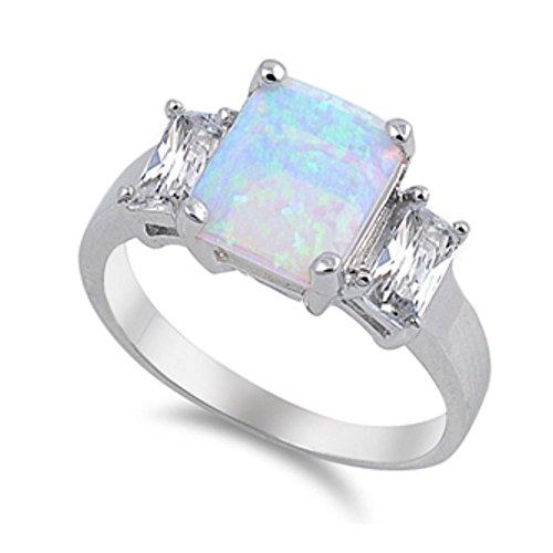 Royal Design Ring aus Sterlingsilber mit Lab Opal