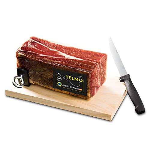 Taco de jamón serrano deshuesado. Incluye soporte jamón y cuchillo. Jamón serrano deshuesado...
