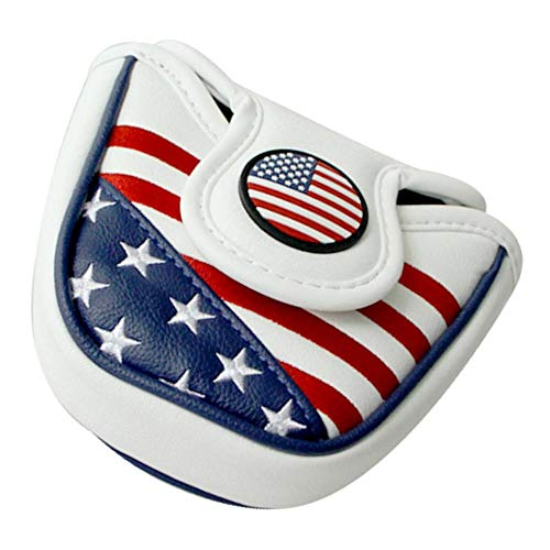 Toygogo Square Golf Putter Head Covers & Magnetic Closure for Most Brands Blade - Waterproof & Long Lasting