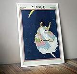 RPW Vintage Vogue Oktober 1921 Georges Lepape Wandposter,